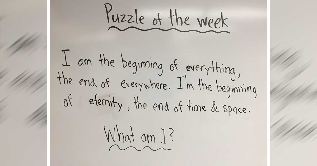 first grader's riddle answer